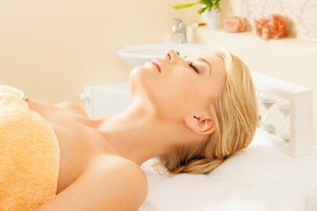 picture of beautiful woman in spa salon Stock Photo - 14730411