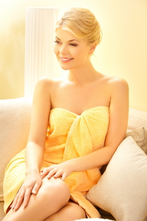picture of beautiful woman in spa salon Stock Photo - 14730438