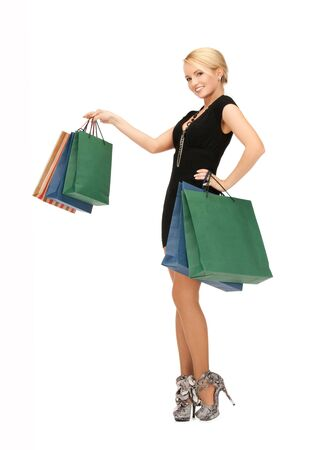 picture of lovely woman with shopping bags Stock Photo - 14943400