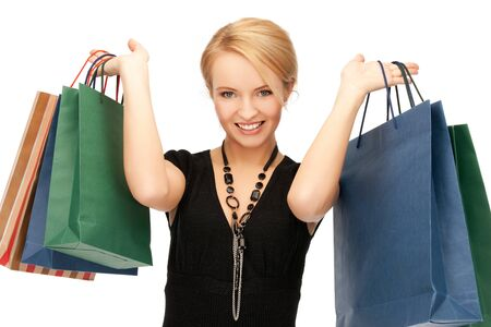 picture of lovely woman with shopping bags Stock Photo - 16346264