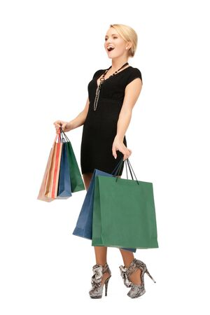 picture of lovely woman with shopping bags  Stock Photo - 14957392