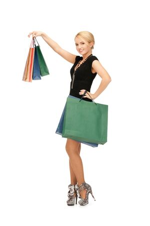 picture of lovely woman with shopping bags  Stock Photo - 14943341