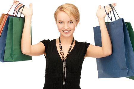 picture of lovely woman with shopping bags Stock Photo - 14943324