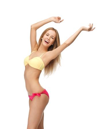 model nice: bright picture of beautiful woman in bikini