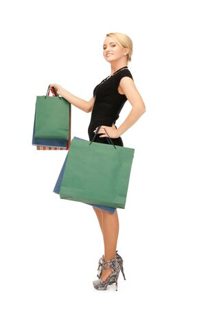 picture of lovely woman with shopping bags  Stock Photo - 15016577