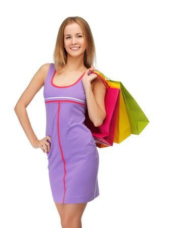 picture of lovely woman with shopping bags Stock Photo - 15043736