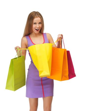 picture of lovely woman with shopping bags Stock Photo - 15043757