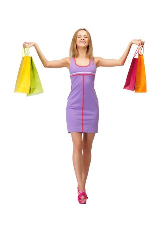 picture of lovely woman with shopping bags Stock Photo - 15043822