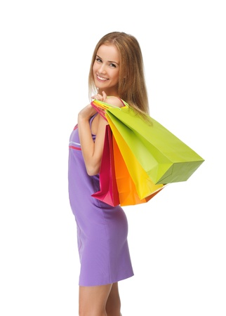 picture of lovely woman with shopping bags Stock Photo - 15043839