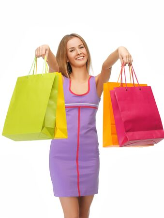 picture of lovely woman with shopping bags Stock Photo - 15043867