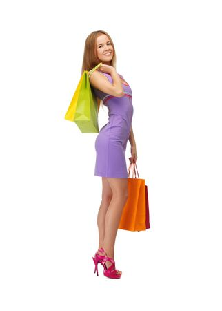 picture of lovely woman with shopping bags Stock Photo - 15501201
