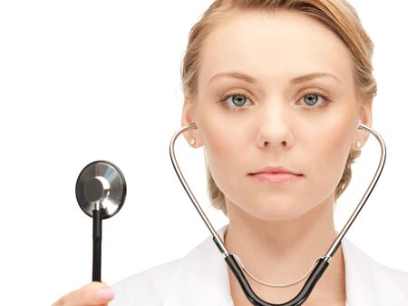 picture of attractive female doctor with stethoscope Stock Photo - 15501216
