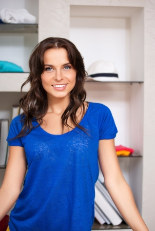 bright picture of happy and smiling woman Stock Photo - 15501202