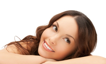 lovely women: picture of beautiful woman in spa salon