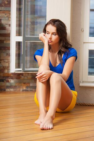 bright picture of sad and lonely woman Stock Photo - 15286735