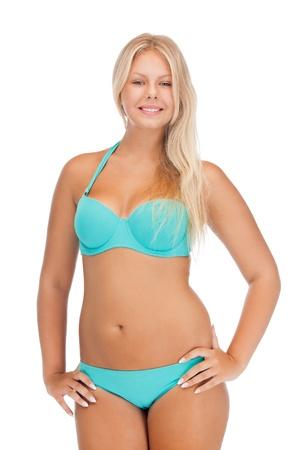 large size: bright picture of beautiful woman in bikini