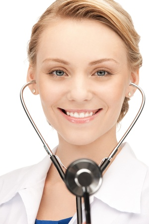 picture of attractive female doctor with stethoscope Stock Photo - 15361802