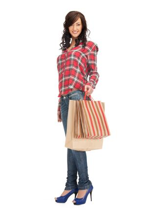 picture of lovely woman with shopping bags Stock Photo - 15397379