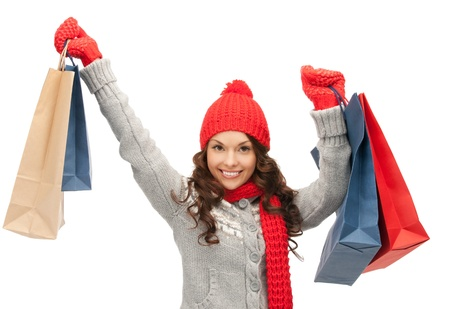picture of lovely woman with shopping bags Stock Photo - 15419958