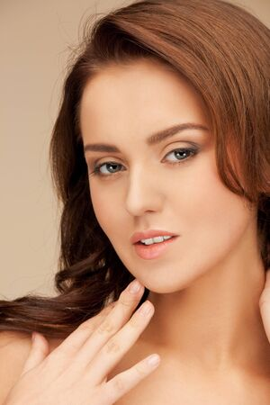 bright closeup portrait picture of beautiful woman Stock Photo - 15446068