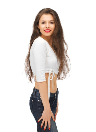 bright picture of beautiful woman in casual clothes Stock Photo - 15452169