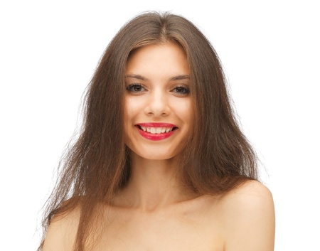 attractive gorgeous: bright picture of beautiful woman with long hair