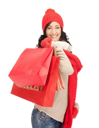 picture of lovely woman with shopping bags Stock Photo - 15452171
