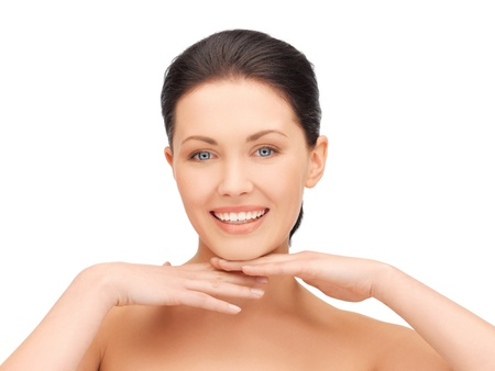 beautiful face: bright closeup portrait picture of beautiful woman