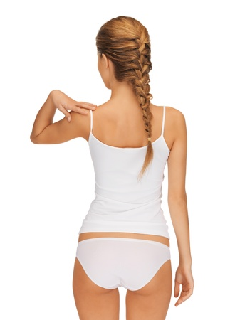 rear view of beautiful woman in cotton undrewear Stock Photo - 15574742