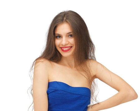 bright picture of beautiful woman with long hair Stock Photo - 15618723