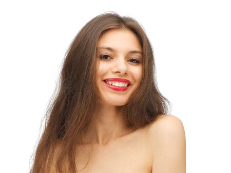 bright picture of beautiful woman with long hair Stock Photo - 15618733