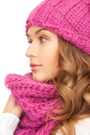 picture of beautiful woman in winter hat  Stock Photo - 15618713