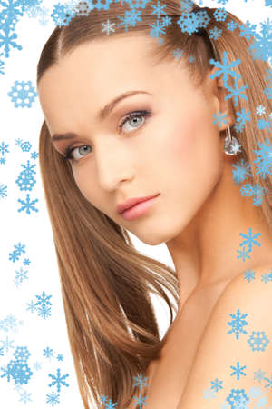bright picture of lovely woman over white Stock Photo - 15618726