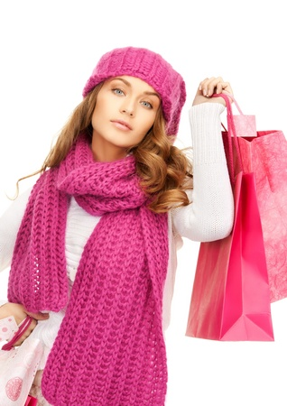 picture of lovely woman with shopping bags   Stock Photo - 15659512