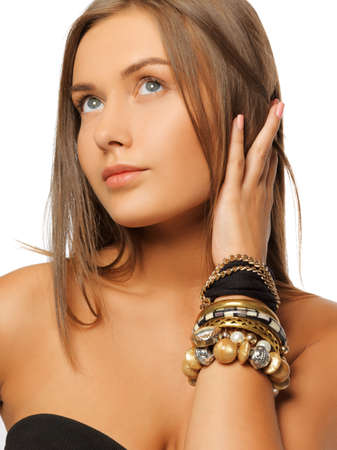 bright picture of beautiful woman with bracelets Stock Photo - 15692113