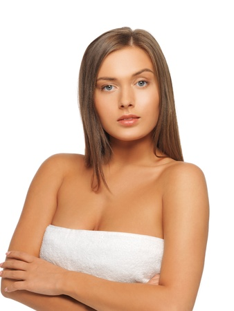 bright picture of beautiful woman in towel Stock Photo - 15692110