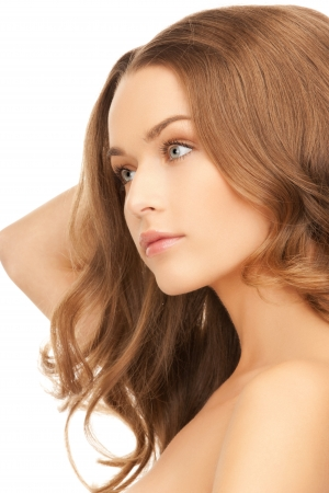 bright picture of beautiful woman with long hair Stock Photo - 15692106