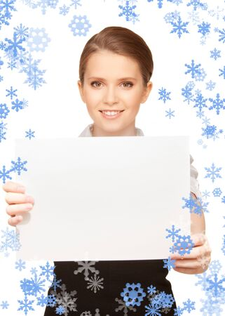 picture of happy teenage girl with blank board Stock Photo - 15692003