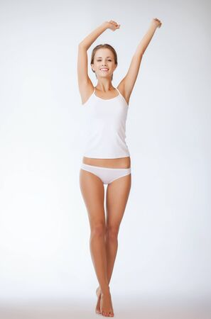 perfect fit: picture of beautiful woman in cotton undrewear