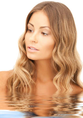 bright closeup picture of beautiful woman in water Stock Photo - 16573575