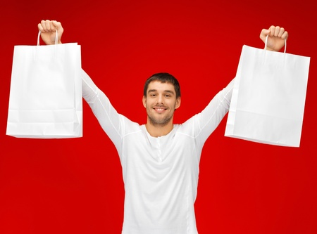 picture of handsome man with shopping bags Stock Photo - 15871766