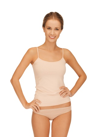 tempting: picture of beautiful woman in cotton undrewear