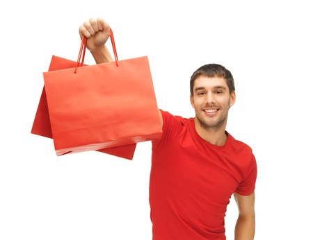 picture of handsome man with shopping bags Stock Photo - 15871864