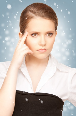 bright picture of unhappy teenage girl face Stock Photo - 15896101