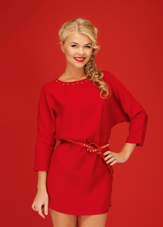 picture of lovely woman in red dress Stock Photo - 15977570