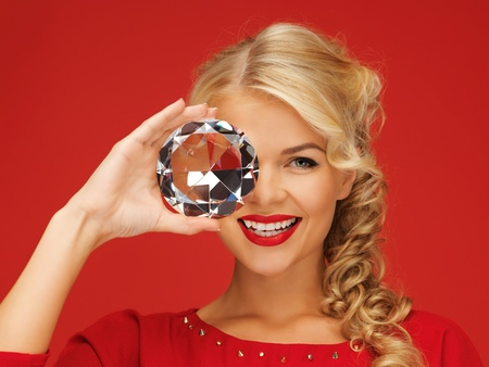 picture of lovely woman with big diamond Stock Photo - 15977573