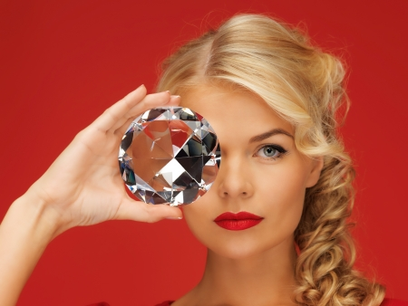 picture of lovely woman with big diamond Stock Photo - 16346459