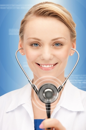 picture of attractive female doctor with stethoscope Stock Photo - 16038771