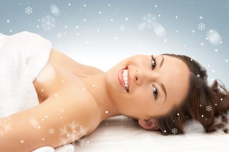 anti season: picture of beautiful woman beautiful woman in spa salon