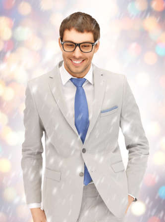 portrait picture of happy businessman in spectacles  photo